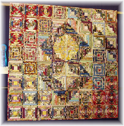 Oriental Log Cabin Sampler PDF quilt pattern