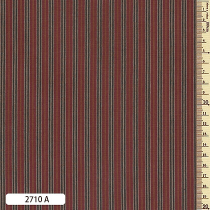 2710A striped shima momen cotton brick red by the half metre