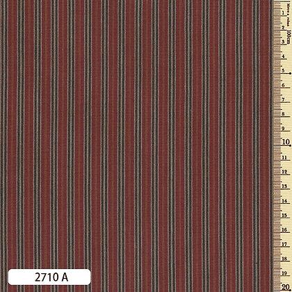 2710A striped shima momen cotton brick red by the half metre