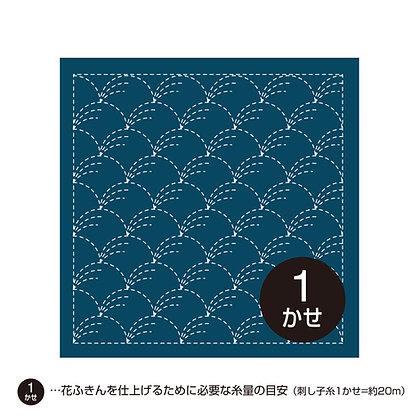 #201 sashiko hanafukin panel 'nowaki' grasses - indigo blue