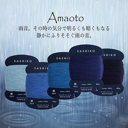 5 x 40m fine Yokota Daruma sashiko thread set 'amaoto''