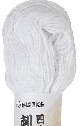 #101 white 80m stranded sashiko/kogin thread