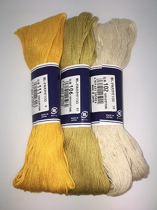 golden harvest 3 x 100m plain sashiko threads pack