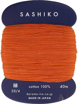 #214 burnt orange 40m fine Yokota Daruma sashiko thread