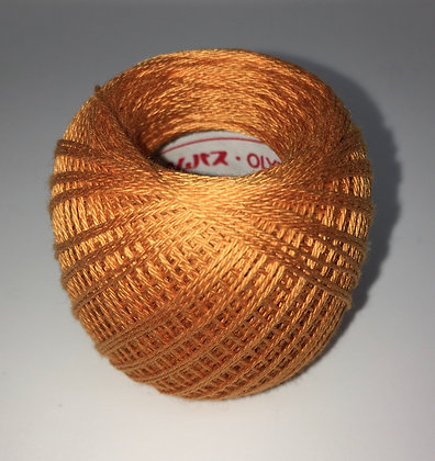 #204 80m FINE persimmon orange sashiko thread