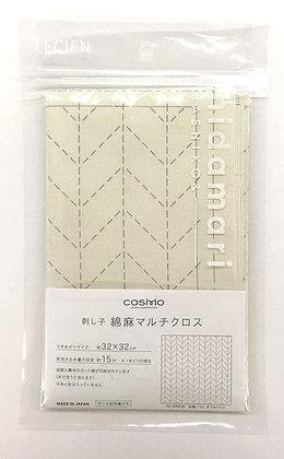 Lecien Cosmo 'hidamari' off white herringbone  sashiko sampler