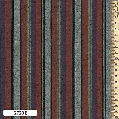 2720E striped shima momen cotton brick red aubergine grey by the half metre