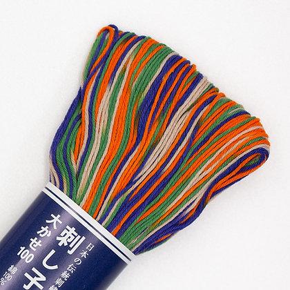 #172 colourful shaded 100m medium sashiko thread