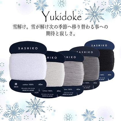 5 x 40m fine Yokota Daruma sashiko thread set 'yukidoke'