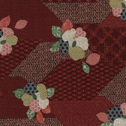 'Sekuta' RED Japanese patchwork print floral