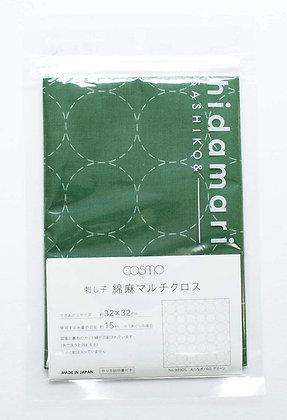 Lecien Cosmo 'hidamari' green sashiko sampler