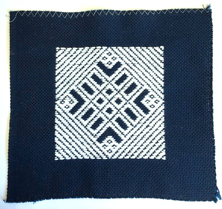 #1007 navy blue 18 count 100% cotton kogin fabric