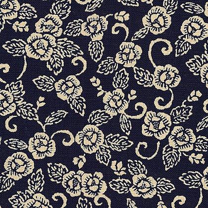'botan' by Sevenberry linen look cotton by 1/2m