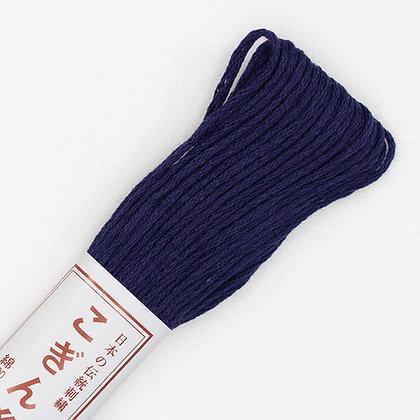 #335 navy blue (indigo) kogin thread 18m