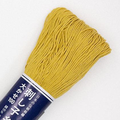 #106 yellow ochre 100m medium sashiko thread