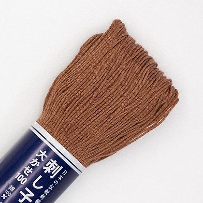 #114 brown 100m medium sashiko thread