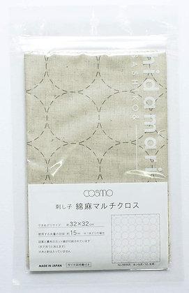 Lecien Cosmo 'hidamari' natural greige sashiko sampler