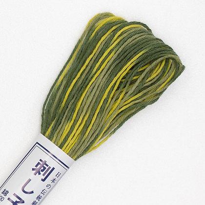 #95 20m sashiko thread yellow ochre to light green