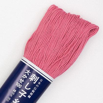 #110 pink 100m medium sashiko thread