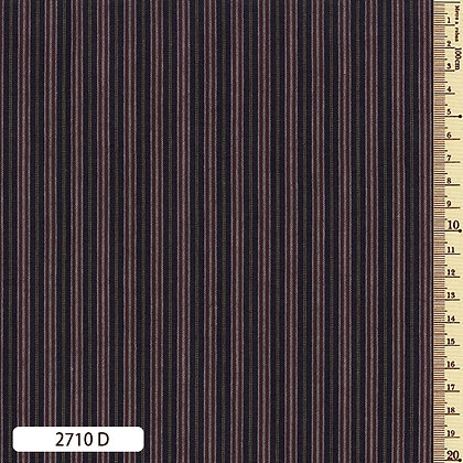 2710D striped shima momen dark blue by the half metre