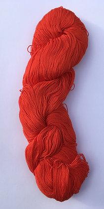 #5 fine sashiko thread 370m skein vermilion red