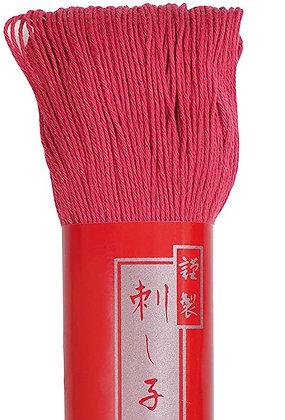 #7 pinkish red 100m medium Yokota Daruma sashiko thread