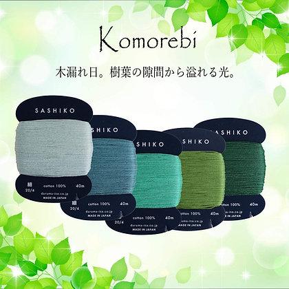 5 x 40m fine Yokota Daruma sashiko thread set 'komorebi'