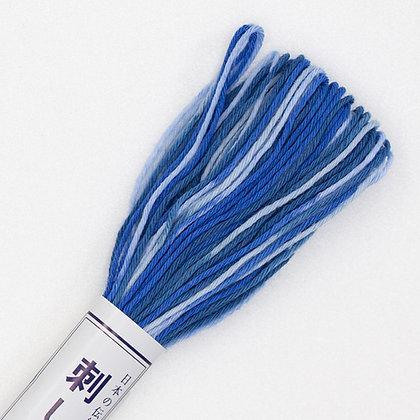 #52 20m sashiko thread blue to white