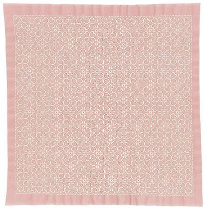 #H3033 pink sashiko hanafukin panel 'sakura no hana'