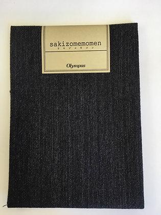 #SC009 Sakizome Momen very dark grey precut 35 x 50cm