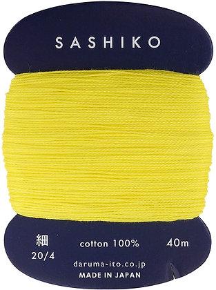 #203 lemon yellow 40m fine Yokota Daruma sashiko thread