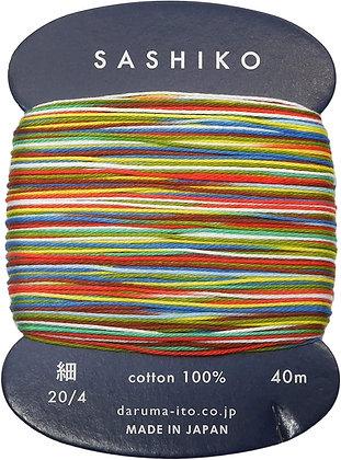 #501 kamifūsen multi colour 40m fine Yokota Daruma sashiko thread