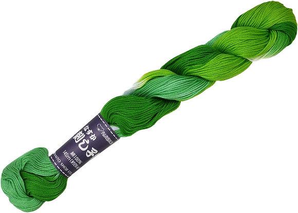 #204 green to white 145m stranded sashiko/kogin thread
