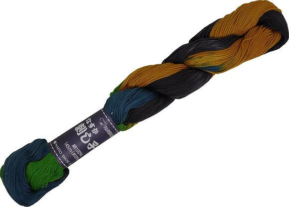 #206 green/grey/ochre145m stranded sashiko/kogin thread