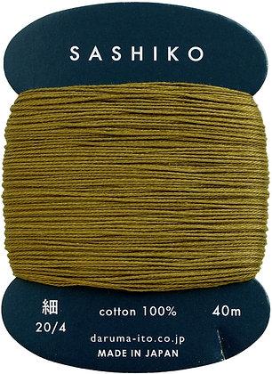 #228 olive green 40m fine Yokota Daruma sashiko thread