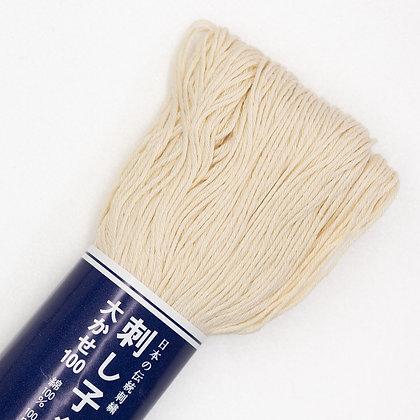 #102 cream 100m medium sashiko thread