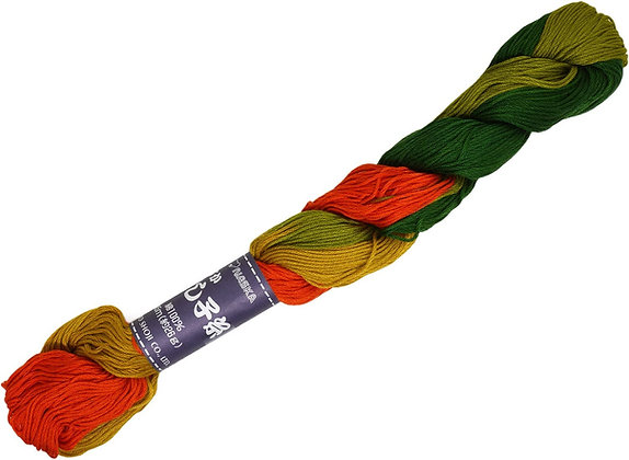 #208 autumn leaves 145m stranded sashiko/kogin thread