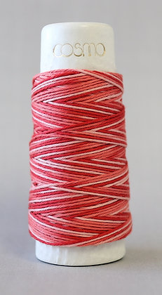 #89-402 Lecien Cosmo Hidamari sashiko thread 30m fine red/salmon pink