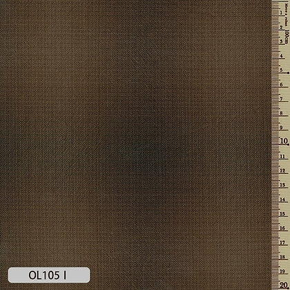OL105I Sakizome Momen brown ombre plaid cotton by the half metre