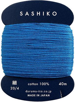 #224 peacock blue 40m fine Yokota Daruma sashiko thread