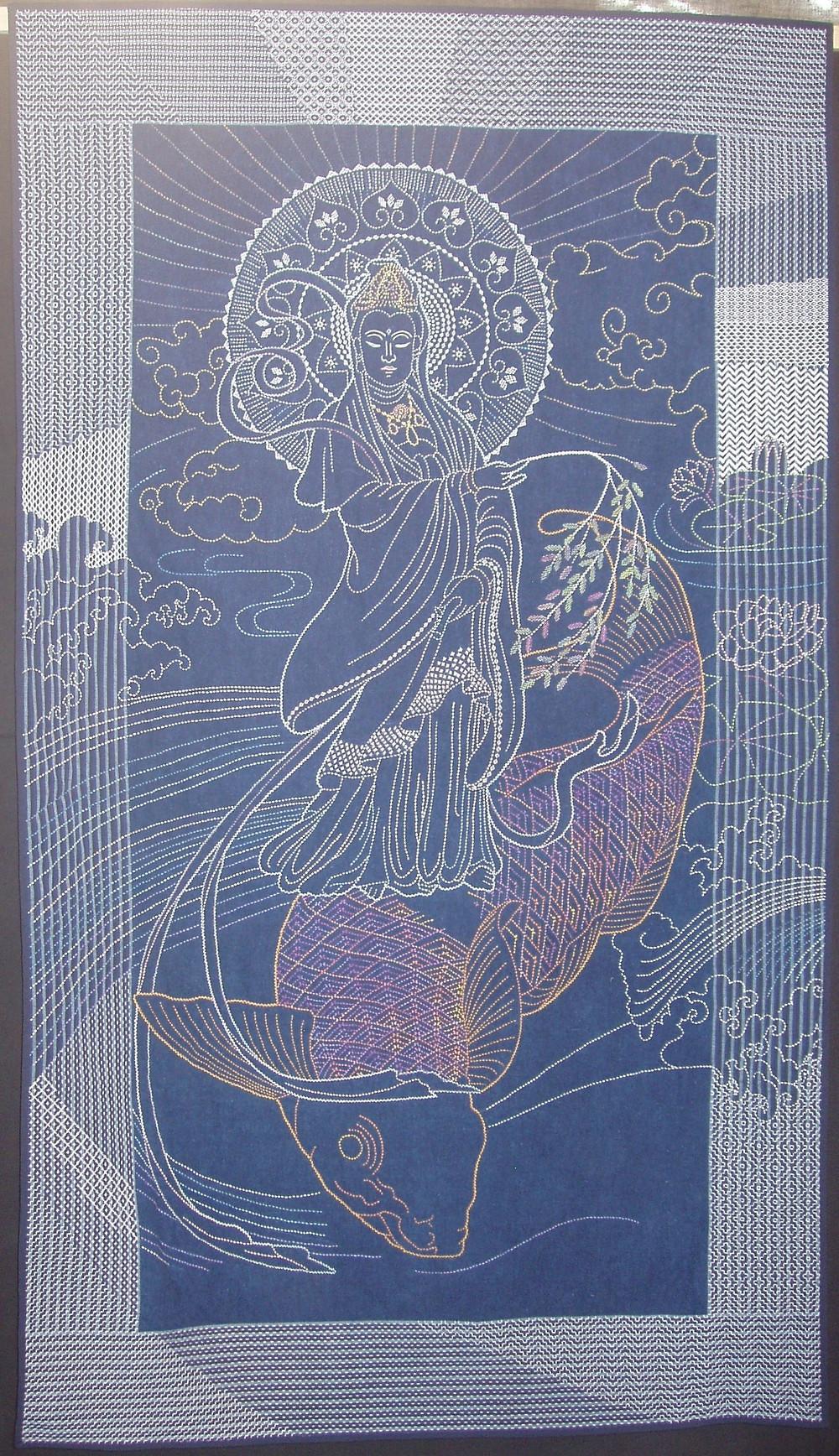 Kannon in sashiko.jpg