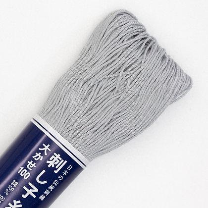 #113 light grey 100m medium sashiko thread