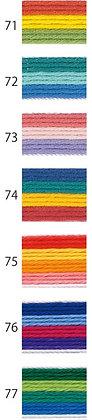 20m sashiko thread multicoloured