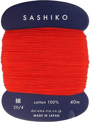 #213 bright red 40m fine Yokota Daruma sashiko thread