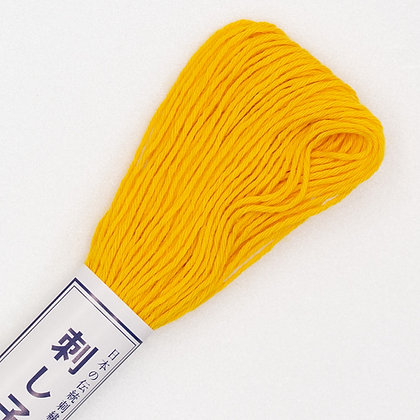 #16 20m sashiko thread golden yellow