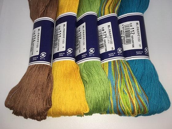 southern summer MEGA 5 x 100m sashiko threads pack