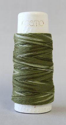 #89-404 Lecien Cosmo Hidamari sashiko thread 30m fine green shaded