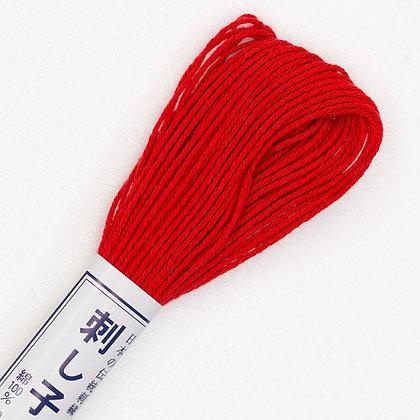 #15 20m sashiko thread bright red