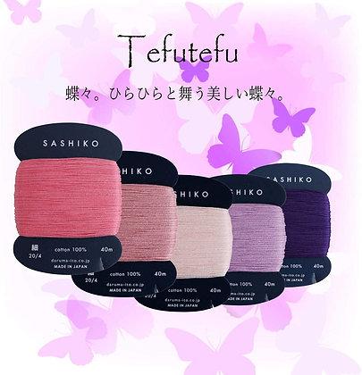 5 x 40m fine Yokota Daruma sashiko thread set 'tefutefu'