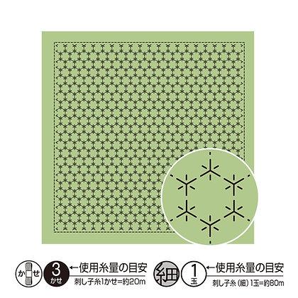 #H8019 light green sashiko hanafukin panel 'kikkou tsunagi'